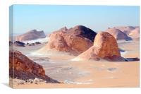 The White Desert,, Canvas Print