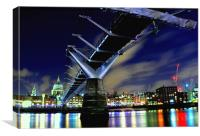Millenium Bridge, Canvas Print