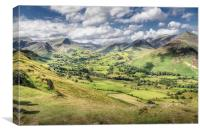 View from Catbells, The Lake District, Canvas Print