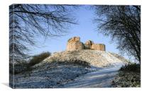 Stafford Castle in snow, Canvas Print