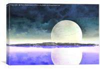 Moon Shape , Canvas Print