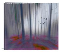 Forest Light Gray, Canvas Print