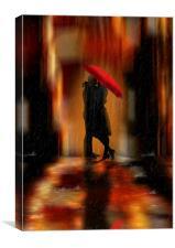 A deluge of love fantasy love and romance, Canvas Print