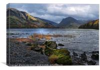 """Storm clouds gather at Buttermere"", Canvas Print"