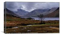 """""""March storms at Wastwater"""", Canvas Print"""