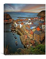 """""""Rustic Staithes"""", Canvas Print"""