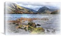 """Painterly Buttermere"", Canvas Print"