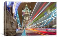 Tower Bridge Whoosh, Canvas Print
