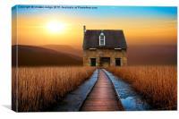 the little brick House , Canvas Print