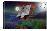 the little cabin , Canvas Print