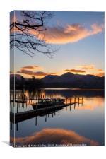Sunset at Derwentwater, Canvas Print