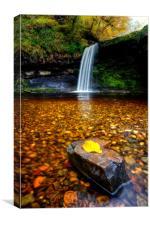 Lady's Falls - Waterfall, Wales, Canvas Print