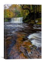 Upper Gushing Falls - Brecon Beacons, Wales, Canvas Print
