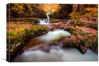 Autumn Waterfalls, Brecon Beacons, Wales, Canvas Print