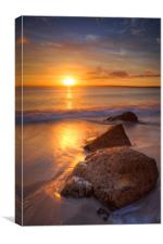 Sunrise at St Ives Cornwall, Canvas Print