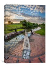 South Stratford Canal, Stratford, Warwickshire, Canvas Print