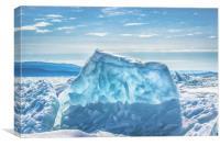 Pressure ridge of lake Baikal, Canvas Print