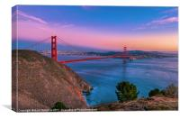 Golden Gate Bridge & the San Francisco Bay, Canvas Print