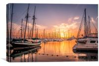 Fiery Sunset at the Bay, Canvas Print