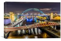 Night at the Toon, Canvas Print