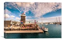 Lighthouse and One Bar , Canvas Print
