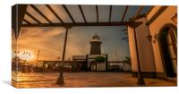 Sunset at the lighthouse , Canvas Print
