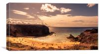 The beautiful Playa de Papagayo, Canvas Print
