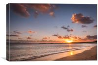 The Sun sets at Playa Dorada, Canvas Print