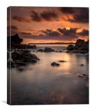 Sunset on the rocks, Canvas Print