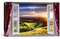Amazing window view, Canvas Print