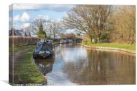 Canal boats on the Macclesfield Canal, Canvas Print