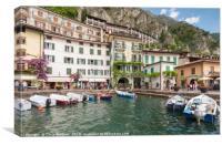 Lake Garda - Limone harbour, Canvas Print
