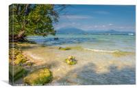 Sirmione Lake Garda - Jamaica Beach, Canvas Print