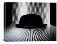 Bowler Hat With Dots, Canvas Print