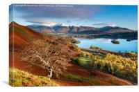Autumnal Lakeland, Cumbria, England. , Canvas Print