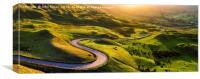 Edale valley in Derbyshire, Peak District, England, Canvas Print