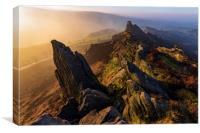 Ramshaw Rocks Sunrise , Canvas Print