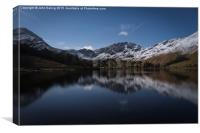 Buttermere by Moonlight, Canvas Print
