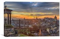 Edinburgh Skyline from Calton Hill, Canvas Print