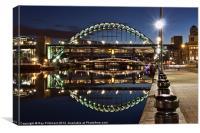 Tyne Bridge At Newcastle, Canvas Print