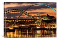 Tyne Bridges,Newcastle, Canvas Print