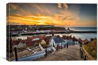 199 steps whitby., Canvas Print