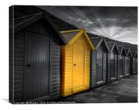 Beach Huts at Whitby, Canvas Print