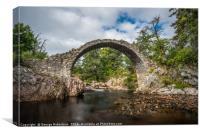 Old stone bridge in the village of Carrbridge, Canvas Print