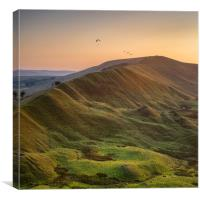 Rushup Edge Paragliders, Canvas Print