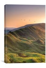 Rushup Paragliders, Canvas Print