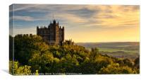 Bolsover Castle at sunset, Derbyshire, England, Canvas Print