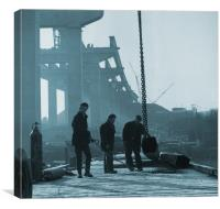 Medway Bridge Construction, Canvas Print