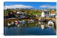 St Abbs harbour, Canvas Print