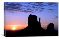 The Mittens at Sunrise, Monument Valley, Canvas Print